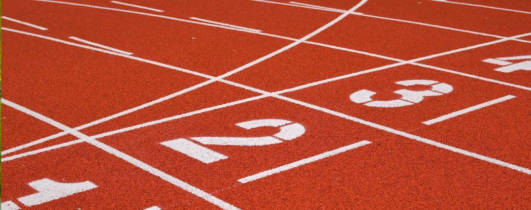 pista de atletismo com numeração